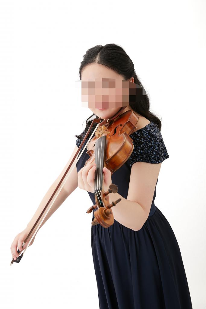 バイオリン奏者の宣材撮影